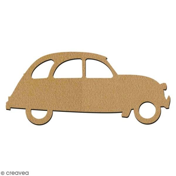 Voiture 2 CV en bois à décorer - 15 cm - Collection Cocorico - Photo n°2