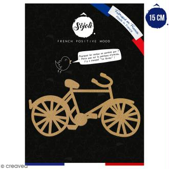 Bicyclette en bois à décorer - 15 cm - Collection Cocorico