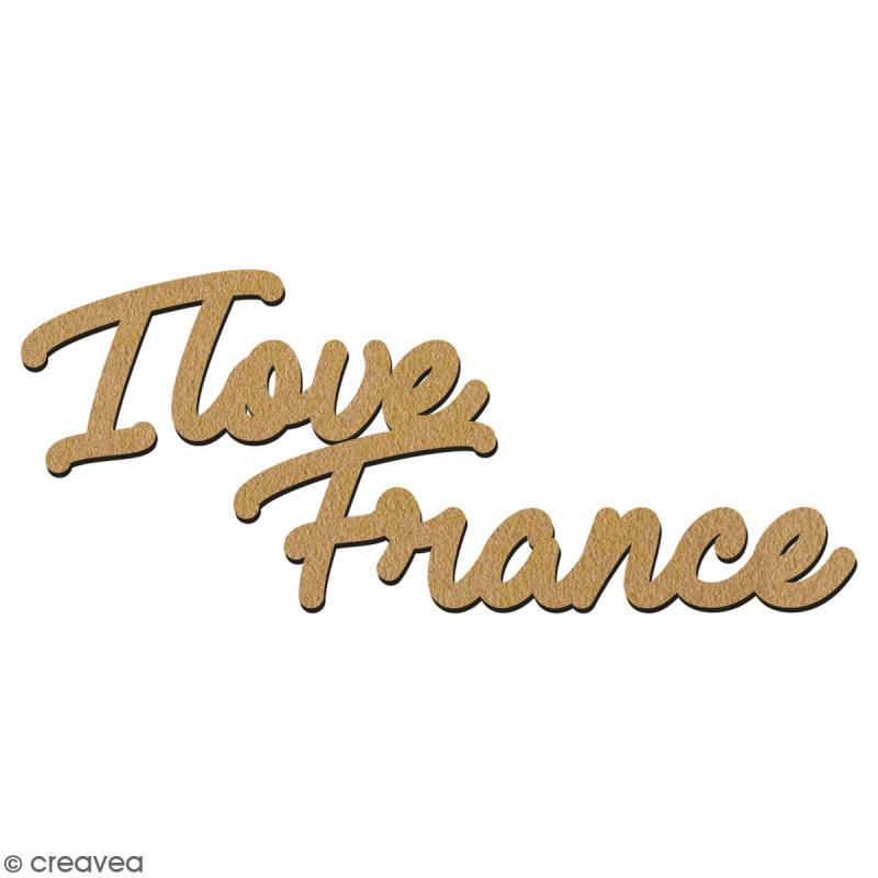 I love France en bois à décorer - 15 cm - Collection Cocorico - Photo n°2