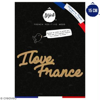 I love France en bois à décorer - 15 cm - Collection Cocorico