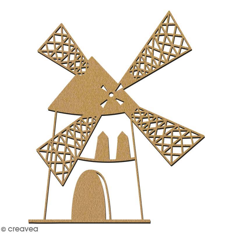 Moulin en bois à décorer - 15 cm - Collection Cocorico - Photo n°2