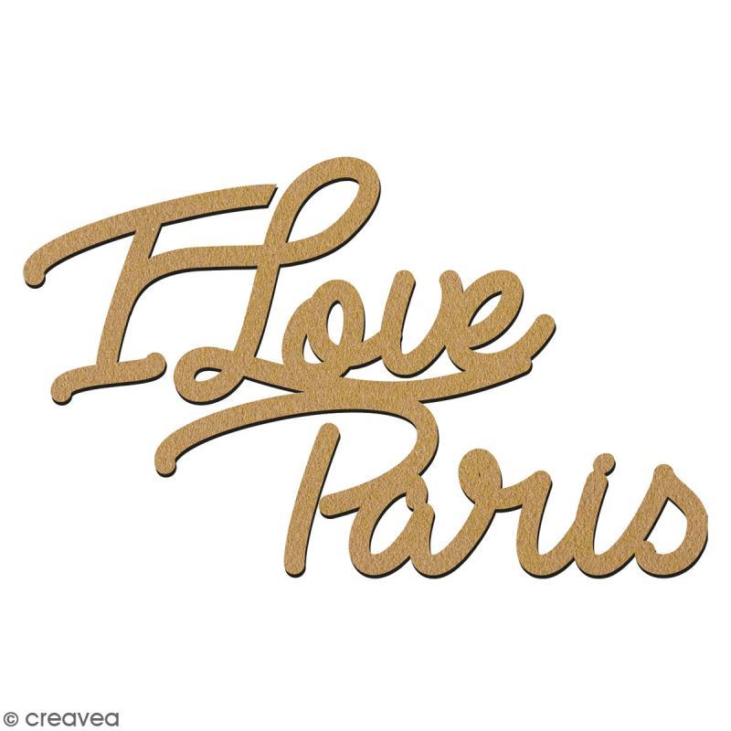 I love Paris en bois à décorer - 28 cm - Collection Cocorico - Photo n°2