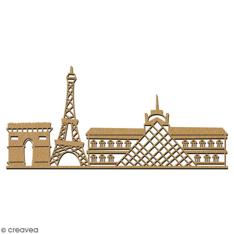 Paysage Monuments de Paris en bois à décorer - 28 cm - Collection Cocorico - Photo n°2