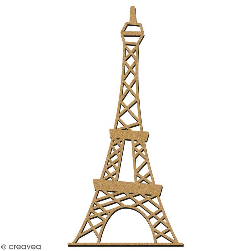 Tour Eiffel en bois à décorer - 28 cm - Collection Cocorico - Photo n°2