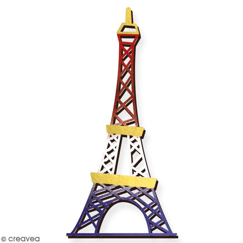 Tour Eiffel en bois à décorer - 28 cm - Collection Cocorico - Photo n°3