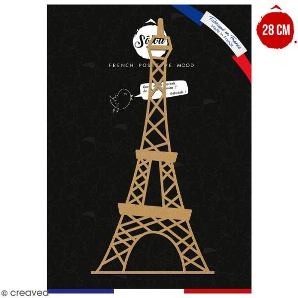 Tour Eiffel en bois à décorer - 28 cm - Collection Cocorico - Photo n°1