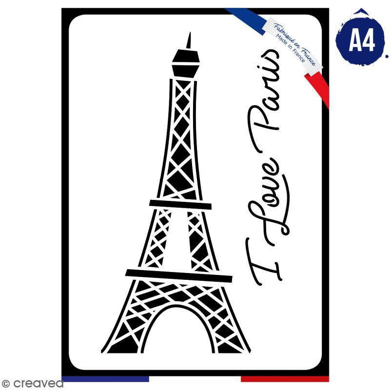 Pochoir multiusage A4 - Tour Eiffel - 1 planche - Collection Cocorico - Photo n°1