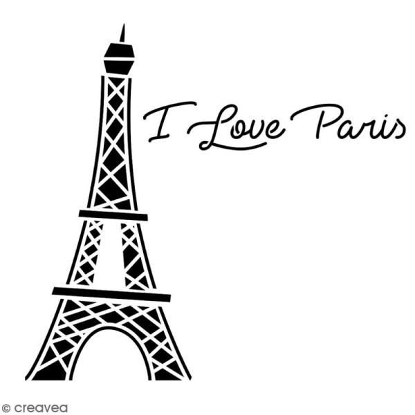 Pochoir multiusage A4 - Tour Eiffel - 1 planche - Collection Cocorico - Photo n°2