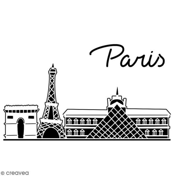 Pochoir multiusage A4 - Monuments de Paris - 1 planche - Collection Cocorico - Photo n°2
