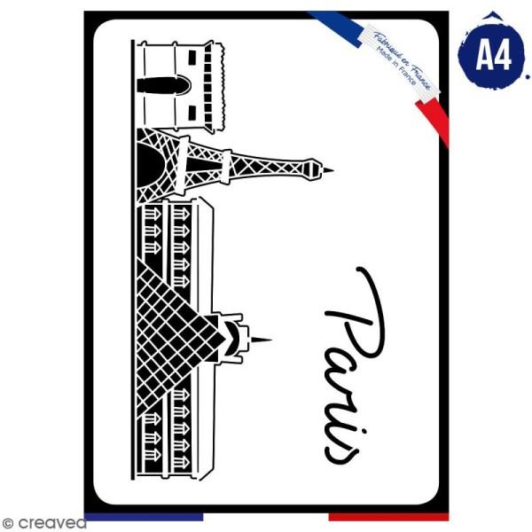 Pochoir multiusage A4 - Monuments de Paris - 1 planche - Collection Cocorico - Photo n°1