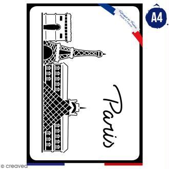 Pochoir multiusage A4 - Monuments de Paris - 1 planche - Collection Cocorico