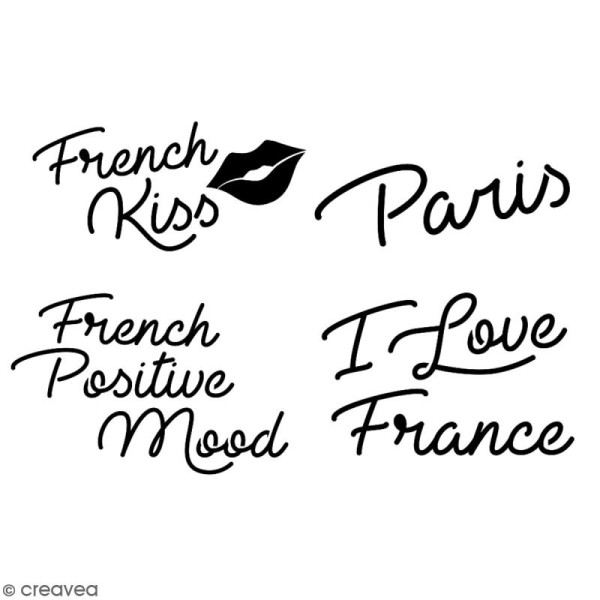 Pochoir multiusage A5 - Mots Paris - 1 planche - Collection Cocorico - Photo n°2