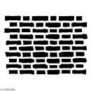 Pochoir multiusage A5 - Motif brique - 1 planche - Collection Cocorico - Photo n°2