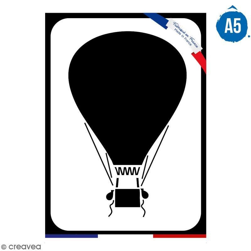Pochoir multiusage A5 - Montgolfière - 1 planche - Collection Cocorico - Photo n°1