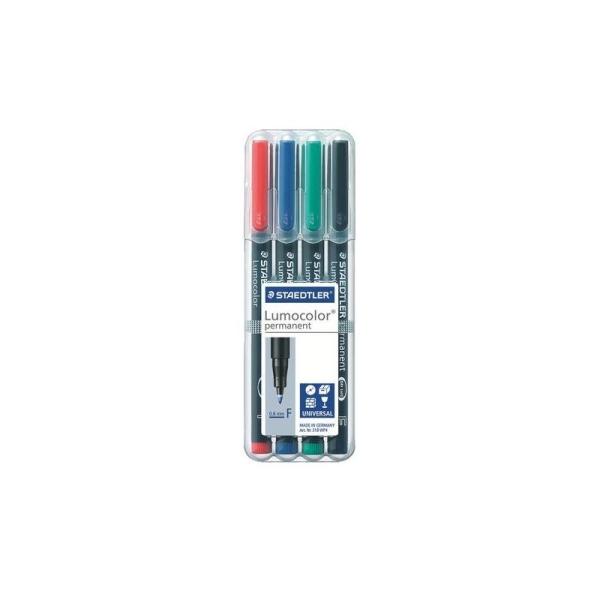 Coffret de 4 crayons staedtler lumocolor permanent de 0.6mm ( pointe F) - Photo n°1