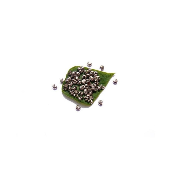 Cache perle : 100 Pièces 4 MM de diamètre couleur argenté sans nickel - Photo n°1