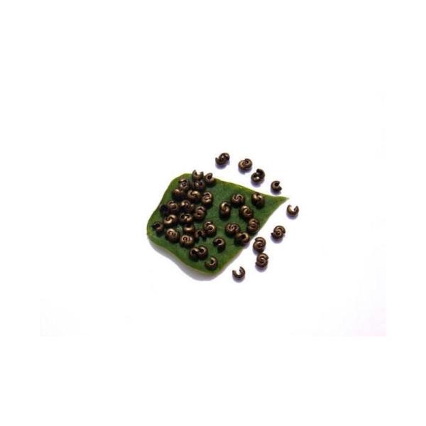 Cache perle : 100 Pièces 4 MM de diamètre couleur bronze sans nickel - Photo n°1