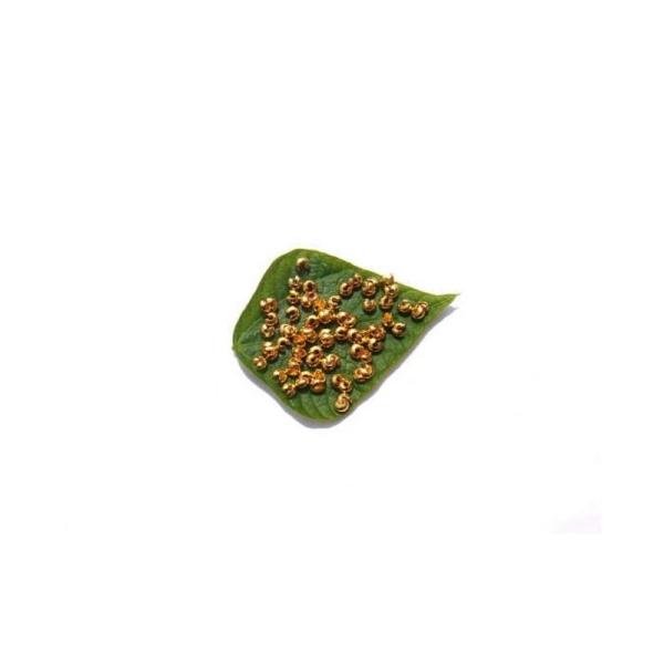 Cache perle : 100 Pièces 3 MM de diamètre couleur doré sans nickel - Photo n°1