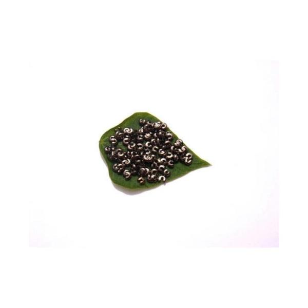 Cache perle : 100 Pièces 3 MM de diamètre couleur anthracite sans nickel - Photo n°1
