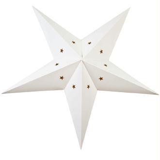 Lanterne étoile en carton - Blanc - 60cm