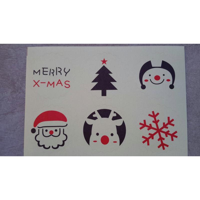 Stickers de fete de noel autocollants pour noel stickers for Auto collant mural