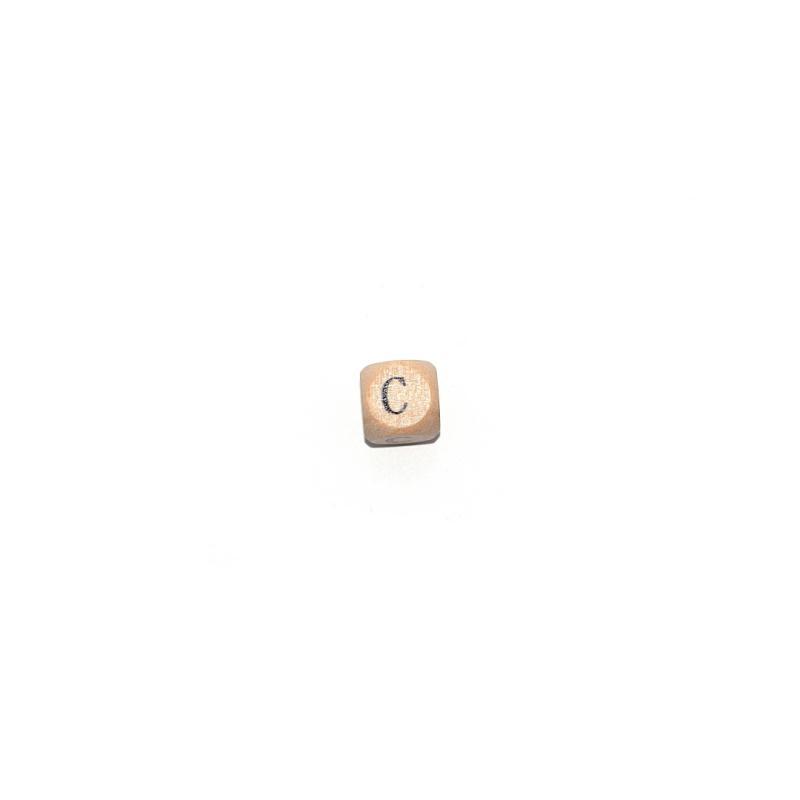 lettre c cube 12 mm en bois naturel perles alphabet. Black Bedroom Furniture Sets. Home Design Ideas