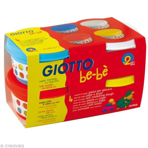 Pâte à jouer GIOTTO Bébé - Couleurs primaires 4 x 100 gr - Photo n°1