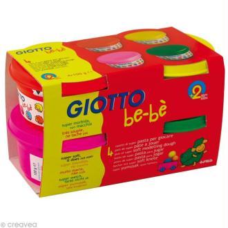 Pâte à jouer GIOTTO Bébé - Couleurs vives 4 x 100 gr