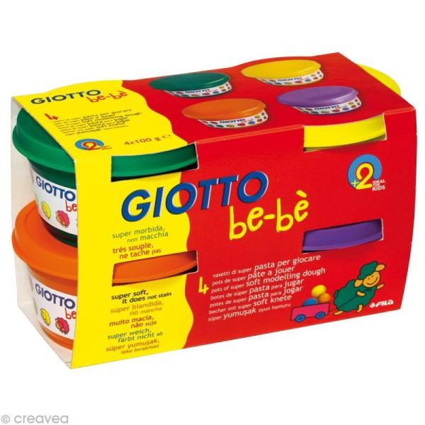 Pâte à jouer GIOTTO Bébé - Couleurs complémentaires 4 x 100 gr - Photo n°1