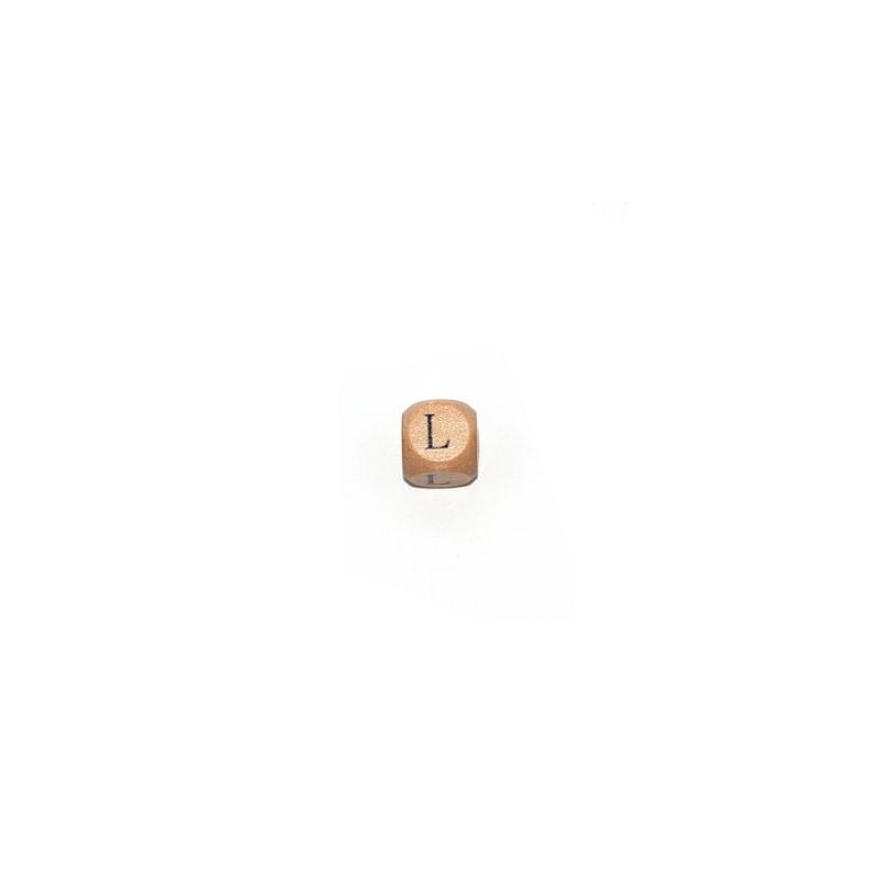 lettre l cube 12 mm en bois naturel perles alphabet. Black Bedroom Furniture Sets. Home Design Ideas