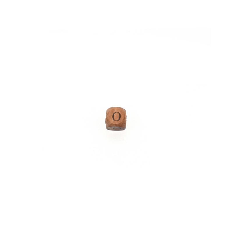 lettre o cube 12 mm en bois naturel perles alphabet. Black Bedroom Furniture Sets. Home Design Ideas
