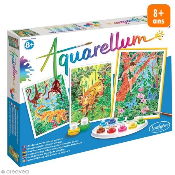 Jeu créatif Aquarellum - Livre de la jungle - Photo n°1