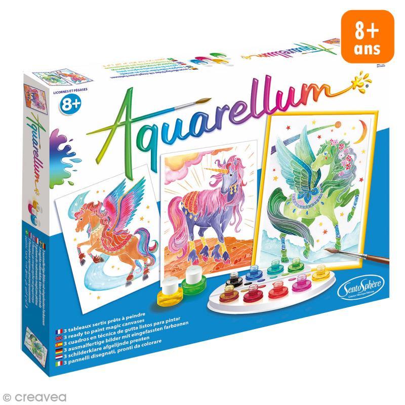 Jeu créatif Aquarellum - Licornes et pégases - Photo n°1