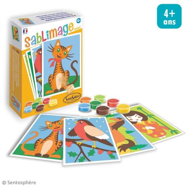 Kit Sablimage mini - Copains câlins - 4 tableaux - Photo n°2