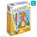 Kit Sablimage mini - Copains câlins - 4 tableaux - Photo n°1