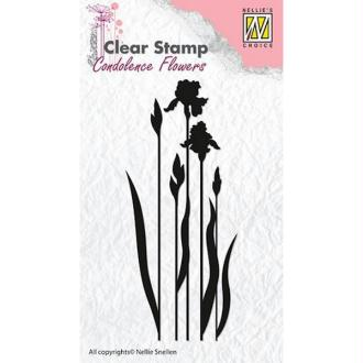 Tampon transparent clear stamp scrapbooking NELLIE'S CHOICE FLEUR 4