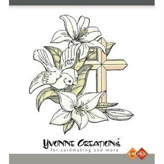 Tampon transparent clear stamp scrapbooking YVONNE CREATION CONDOLEANCE OISEAU FLEUR