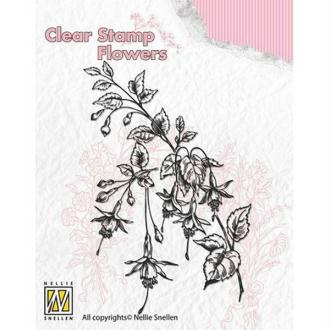 Tampon transparent clear stamp scrapbooking NELLIE'S CHOICE FLEUR IBISCUS