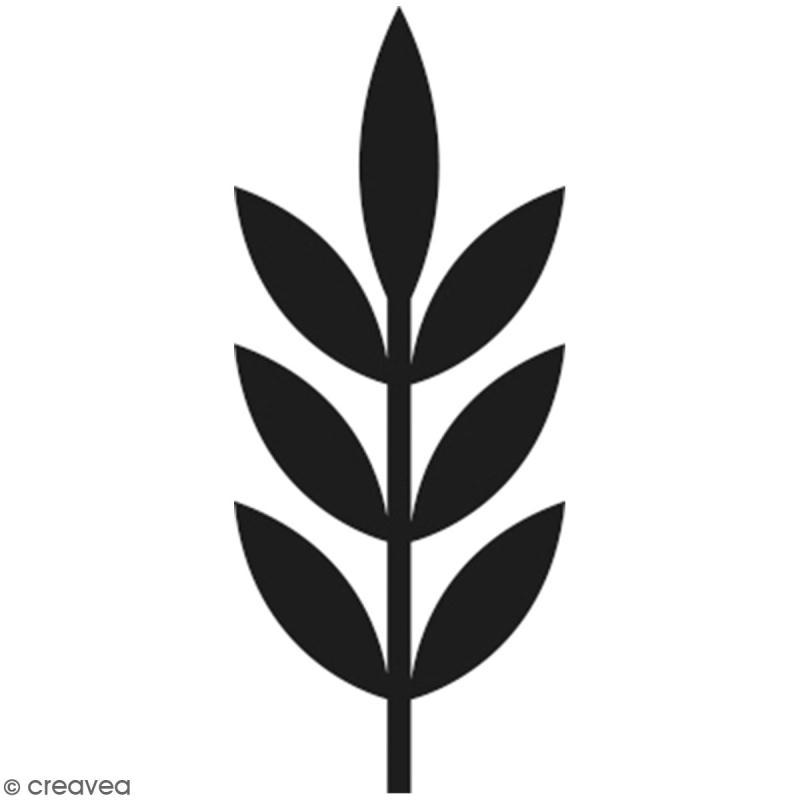 Tampon Bois Artemio - Branche - 2,5 x 3,5 cm - Photo n°1