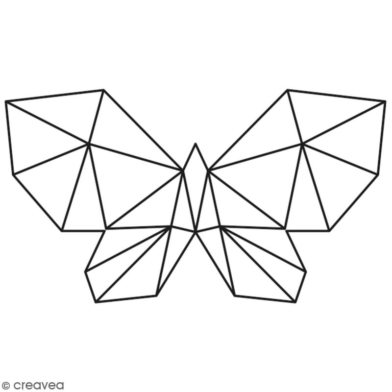 Tampon Bois Artemio - Papillon origami - 6,5 x 3,5 cm - Photo n°1