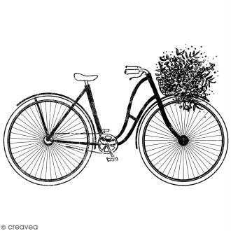 Tampon Bois Artemio - Vélo - 3,5 x 5 cm