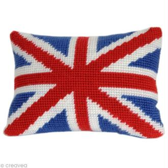 Kit canevas DMC Junior -  Coussin England - 25 X 35 cm