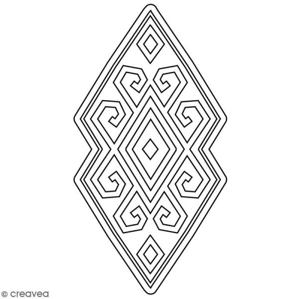 Tampon Bois Artemio - Motif Aztèque losange - 4,5 x 7 cm - Photo n°1