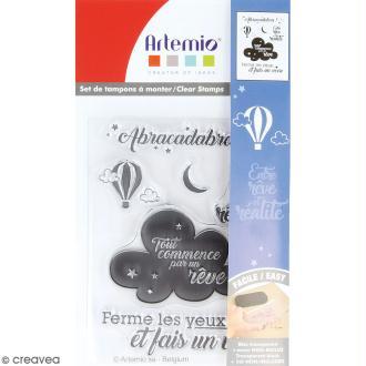 Tampon clear Artemio - Abracadabra - 6 pcs
