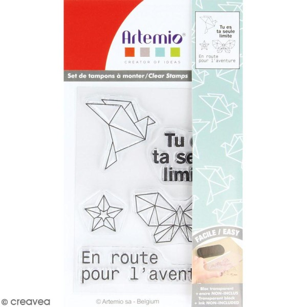 Tampon clear Artemio - Aventure origami - 5 pcs - Photo n°1