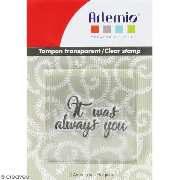 Tampon clear Artemio avec bloc de positionnement - It was always you - Photo n°1