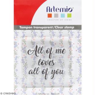 Tampon clear Artemio avec bloc de positionnement - All of you