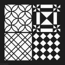 Pochoir géométrique Artemio - Carreaux damier - 30 x 30 cm - Photo n°2
