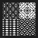 Pochoir géométrique Artemio - Carreaux étoiles et losanges - 30 x 30 cm - Photo n°2