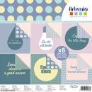 Papier scrapbooking Artemio - Messages - 30,5 x 30,5 cm - 6 feuilles - Photo n°1